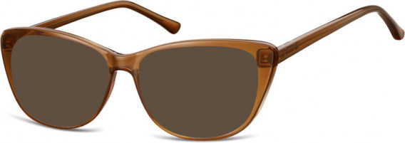 SFE-10537 sunglasses in Clear Brown