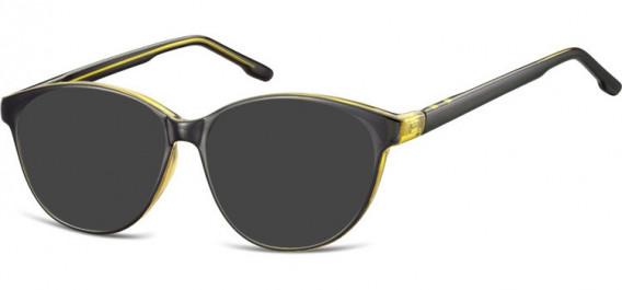 SFE-10534 sunglasses in Black/Olive