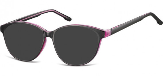 SFE-10534 sunglasses in Black/Purple