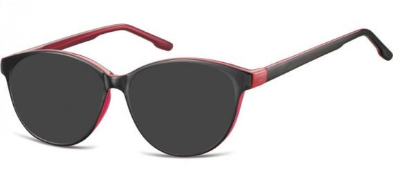 SFE-10534 sunglasses in Black/Pink
