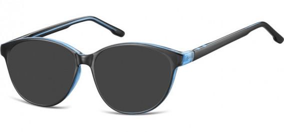SFE-10534 sunglasses in Black/Blue