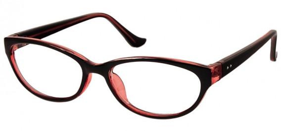 SFE-10579 glasses in Black/Clear Burgundy