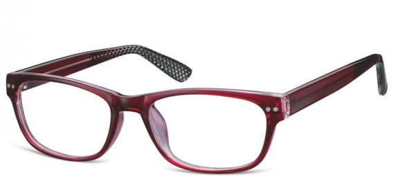 SFE-10567 glasses in Burgundy/Clear