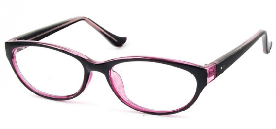 SFE-10579 glasses in Black/Clear Pink