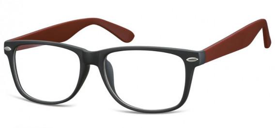 SFE-10569 glasses in Matt Black/Burgundy