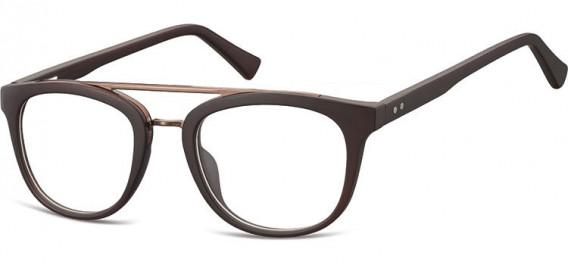 SFE-10542 glasses in Dark Clear Brown