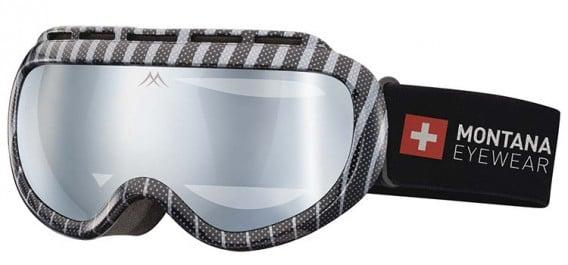 SFE-10636 ski goggles in Shiny Silver/Black