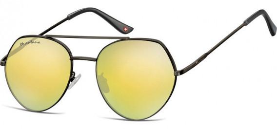 SFE-10629 sunglasses in Matt Black/Gold