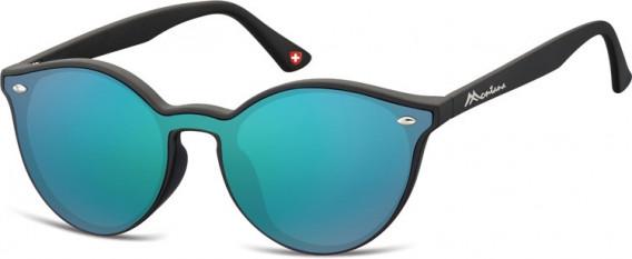 SFE-10627 sunglasses in Black/Green