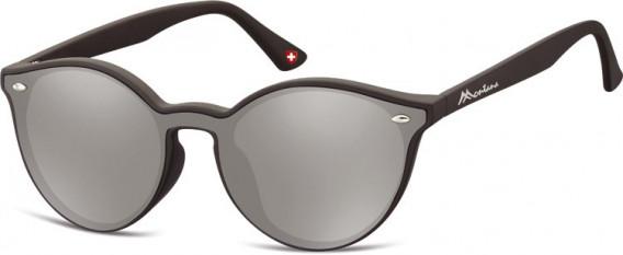 SFE-10627 sunglasses in Black/Silver Mirror
