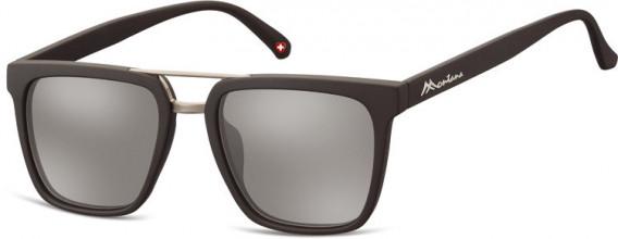 SFE-10626 sunglasses in Black/Silver Mirror