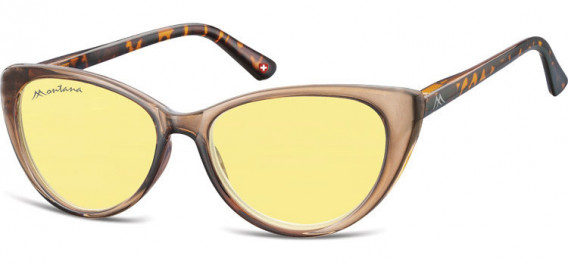 SFE-10624 sunglasses in Light Clear Brown/Turtle/Yellow Lenses