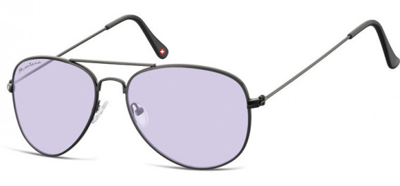 SFE-10613 sunglasses in Black/Light Purple