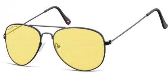 SFE-10613 sunglasses in Black/Yellow
