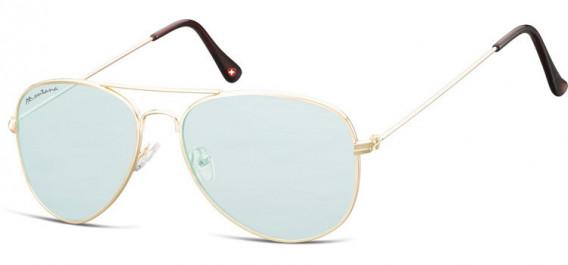 SFE-10613 sunglasses in Gold/Light Green