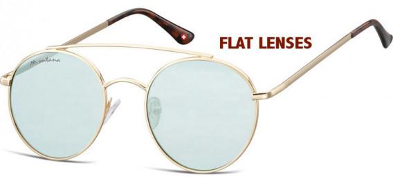 SFE-10611 sunglasses in Gold/Light Green Blue