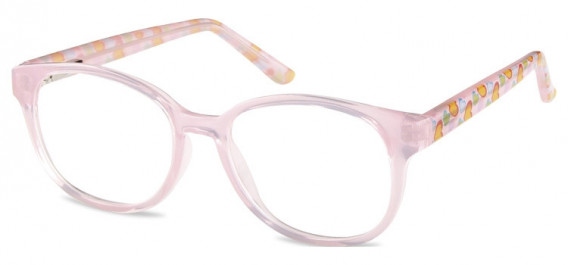 SFE-10599 kids glasses in Clear Pink