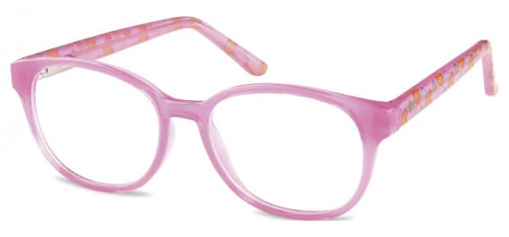 SFE-10599 kids glasses in Clear Hot Pink