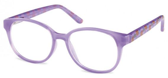 SFE-10599 kids glasses in Clear Purple