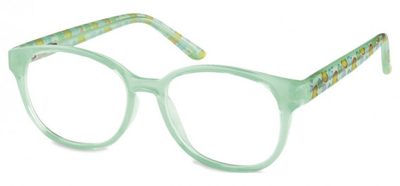 SFE-10599 kids glasses in Clear Green