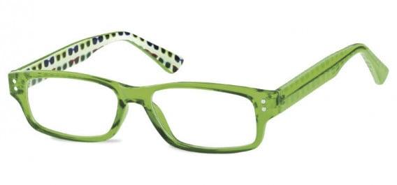 SFE-10602 kids glasses in Clear Green