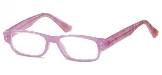 SFE-10601 kids glasses in Clear Hot Pink
