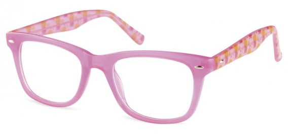 SFE-10598 kids glasses in Clear Hot Pink
