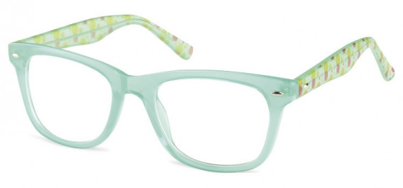 SFE-10598 kids glasses in Clear Green