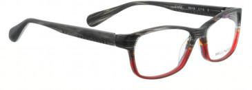 Bellinger CRYSTAL-710 Glasses in Black Matt/Matt Red