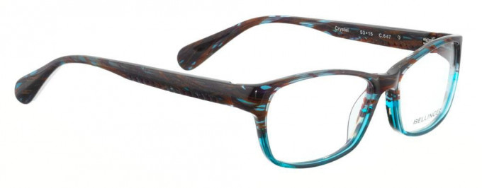 Bellinger CRYSTAL-647 Glasses in Purple/Blue Pattern