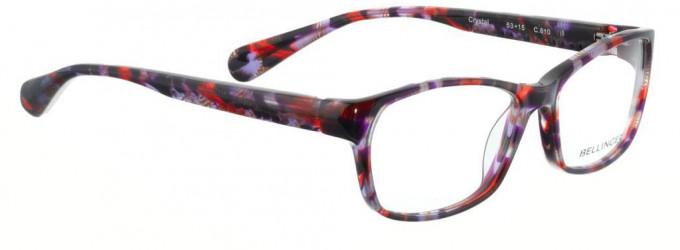 Bellinger CRYSTAL-610 Glasses in Purple/Red Pattern