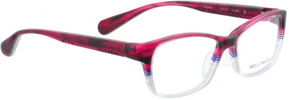 BELLINGER CRYSTAL glasses in Cherry/White
