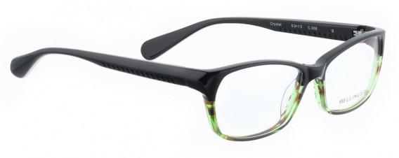 BELLINGER CRYSTAL glasses in Black/Green