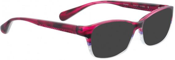 BELLINGER CRYSTAL sunglasses in Cherry/White