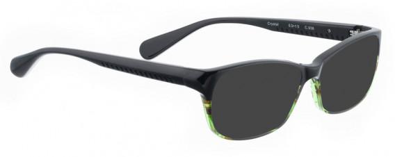 BELLINGER CRYSTAL sunglasses in Black/Green