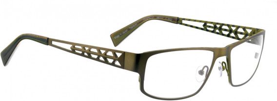 BELLINGER TRAPEZ-2 glasses in Olive Green