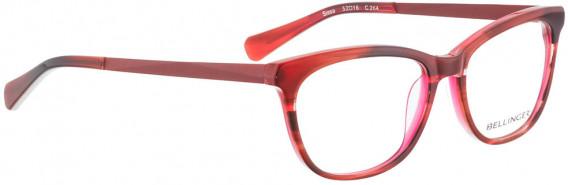 BELLINGER SISSA glasses in Brown Red Pattern