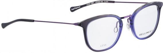 BELLINGER LESS1891 glasses in Purple Transparent