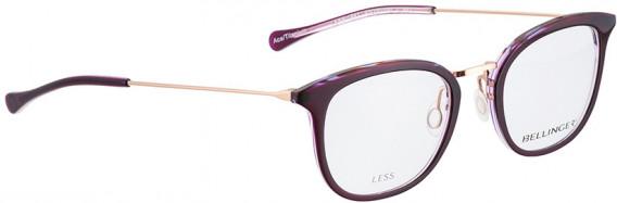 BELLINGER LESS1891 glasses in Aubergine Transparent