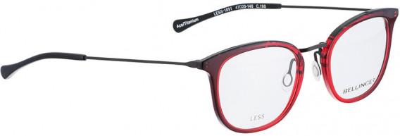 BELLINGER LESS1891 glasses in Red Transparent