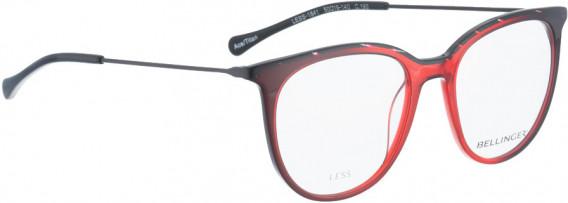 BELLINGER LESS1841 glasses in Red Transparent