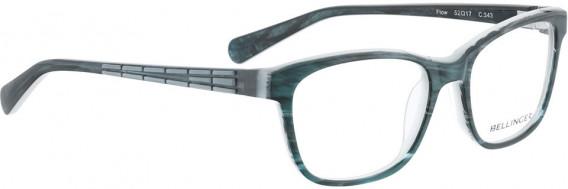BELLINGER FLOW glasses in Green Pattern