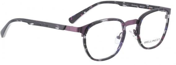 BELLINGER CIRCLE-3 glasses in Purple Pattern