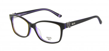 Anna Sui AS662A Glasses in Black/Purple