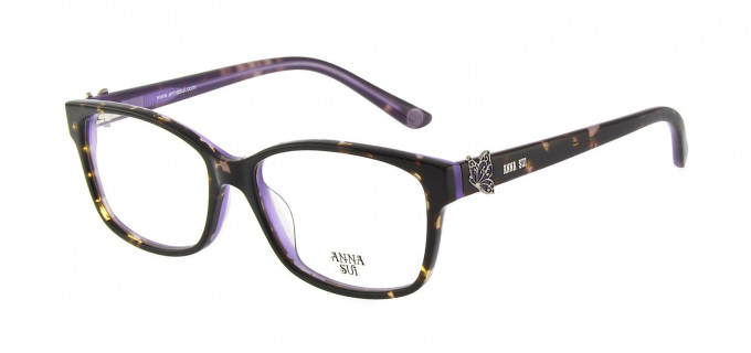 Anna Sui AS662A Glasses in Tortoise/Purple