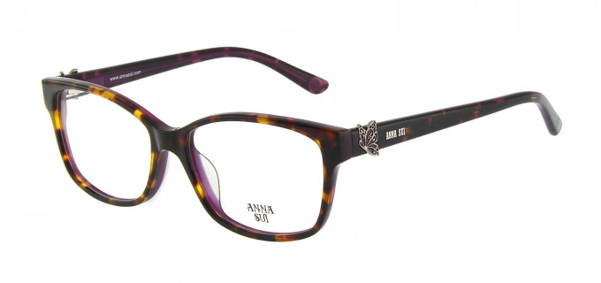 Anna Sui AS662A Glasses in Tortoise/Burgundy