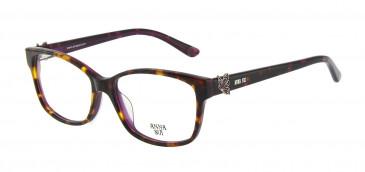 Anna Sui AS662A Glasses in Black/Purple