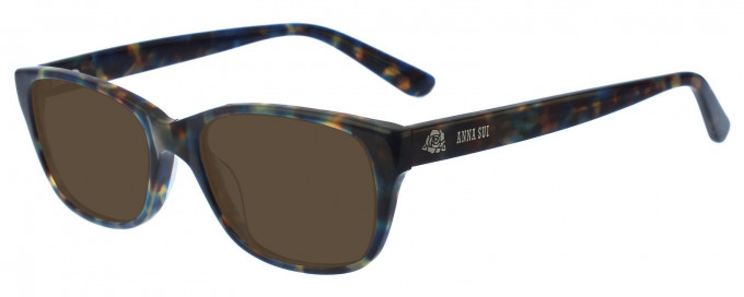 Anna Sui AS567 Sunglasses in Blue/Tortoise