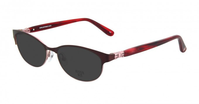 Anna Sui AS201 Sunglasses in Wine/Pink