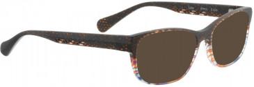 BELLINGER LUCY-50 sunglasses in Matt Brown Pattern
